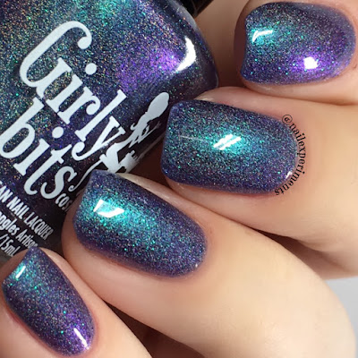 girly bits blue years resolution january 2018 cotm swatches