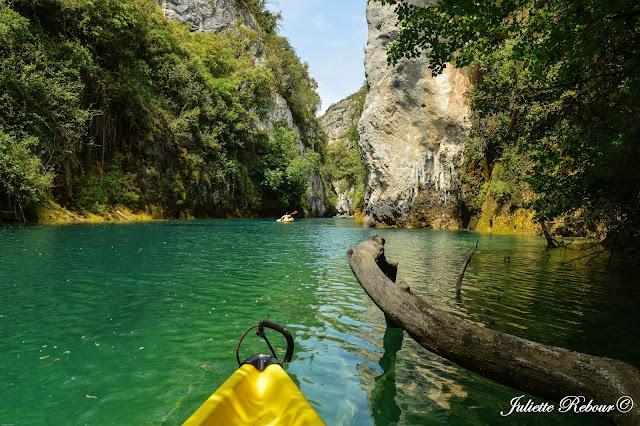 Sortie en canoe-kayak dans le Verdon