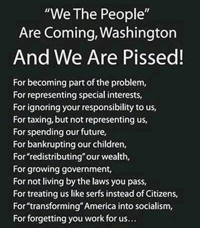 We The People Are Coming, Washington