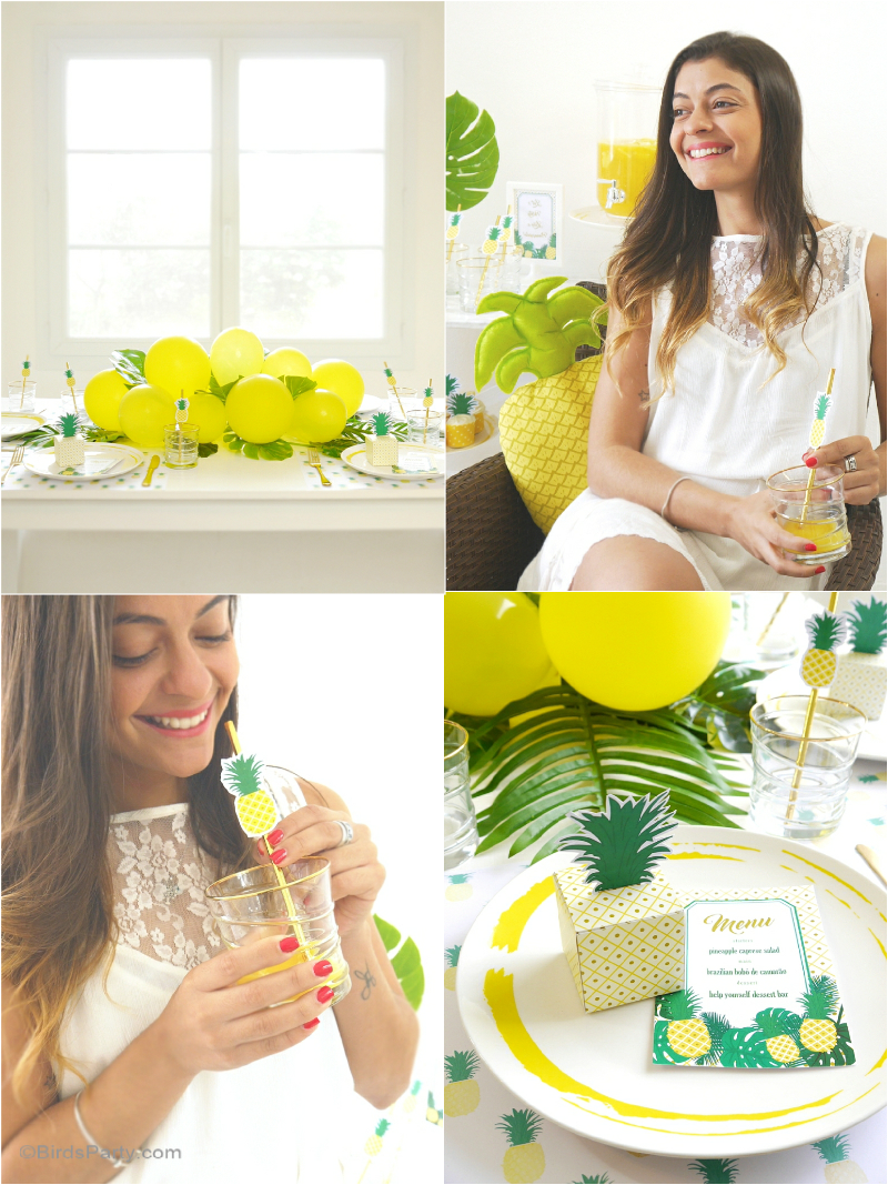 Party Like A Pineapple Birthday DIY Printable Decorations