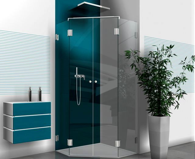 Glasrückwand Dusche