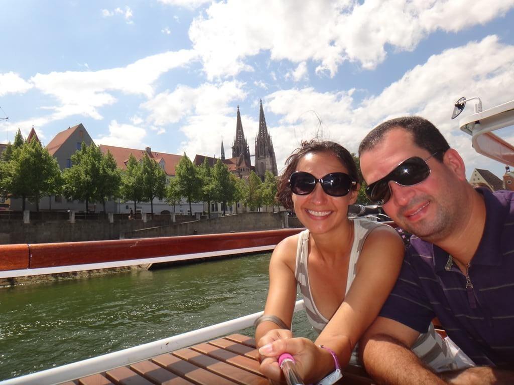 Passeio de barco no Danúbio em Regensburg