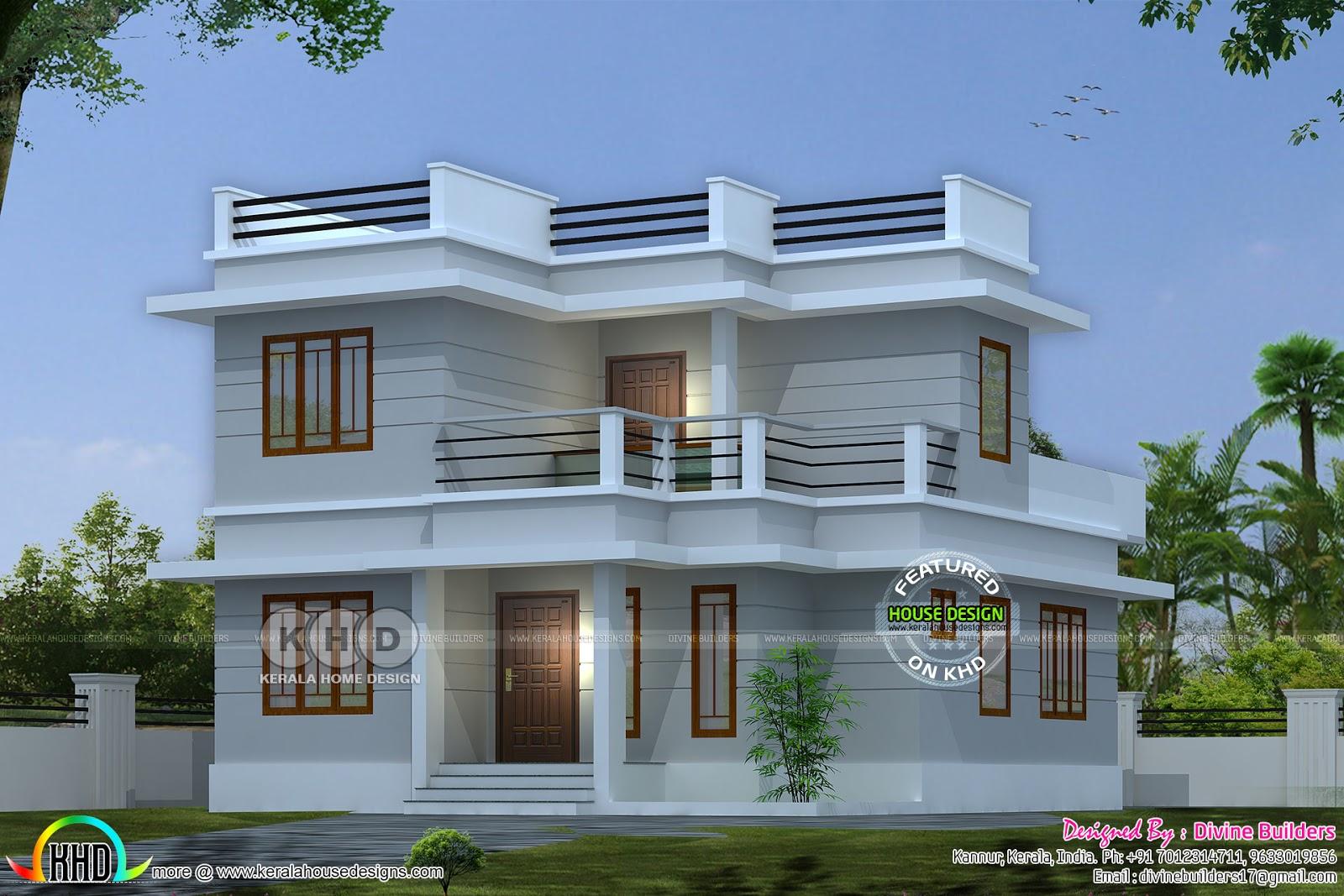 ₹20 lakhs cost estimated modern home 1211 sq-ft - Kerala