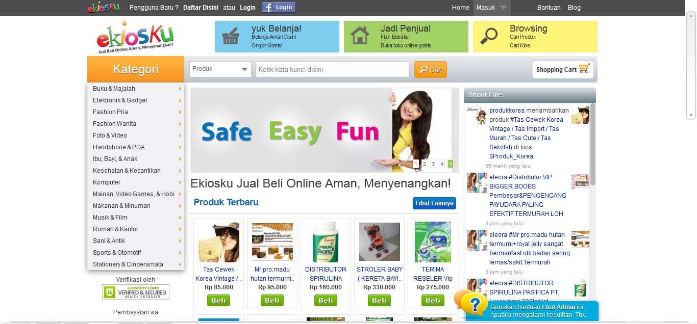 Ekiosku com Jual Beli Online Aman dan Menyenangkan