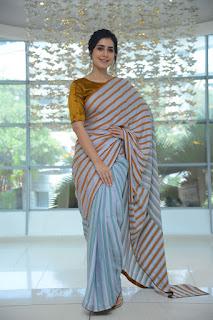 Actress Raashi Khanna New Stills at Prati Roju Pandage movie success meet