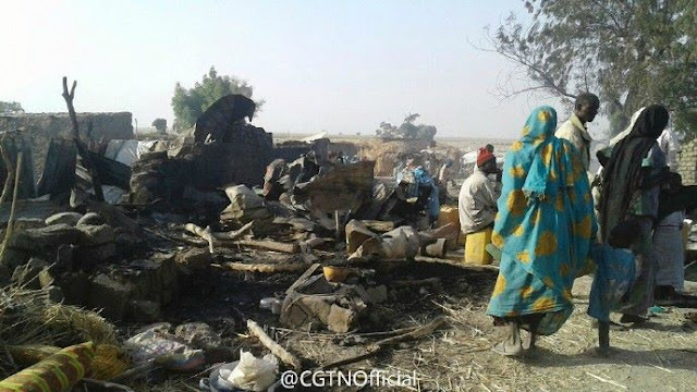 Breaking News: A Nigerian air force jet on Tuesday accidentally killed at least 50 people