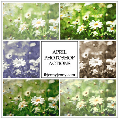 FREE APRIL PHOTOSHOP ACTIONS