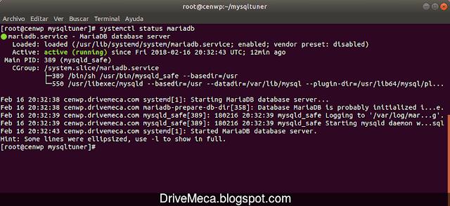 Verificamos este ejecutandose el servicio en Linux