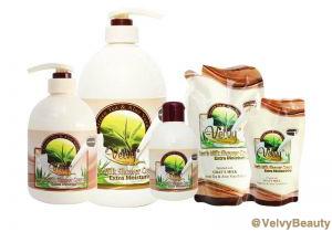 Rahasia kulit putih halus dan sehat dengan Velvy Goat's Milk Shower Cream Green Tea & Aloe Vera