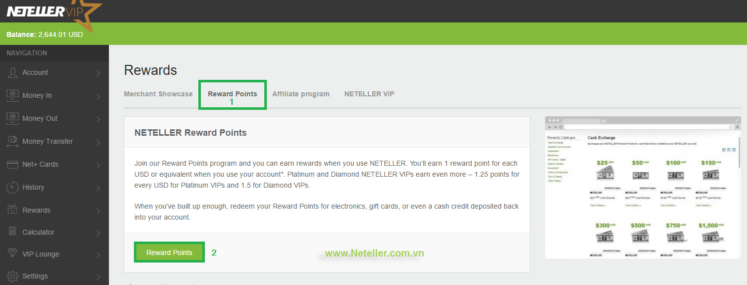 Rewards-Neteller