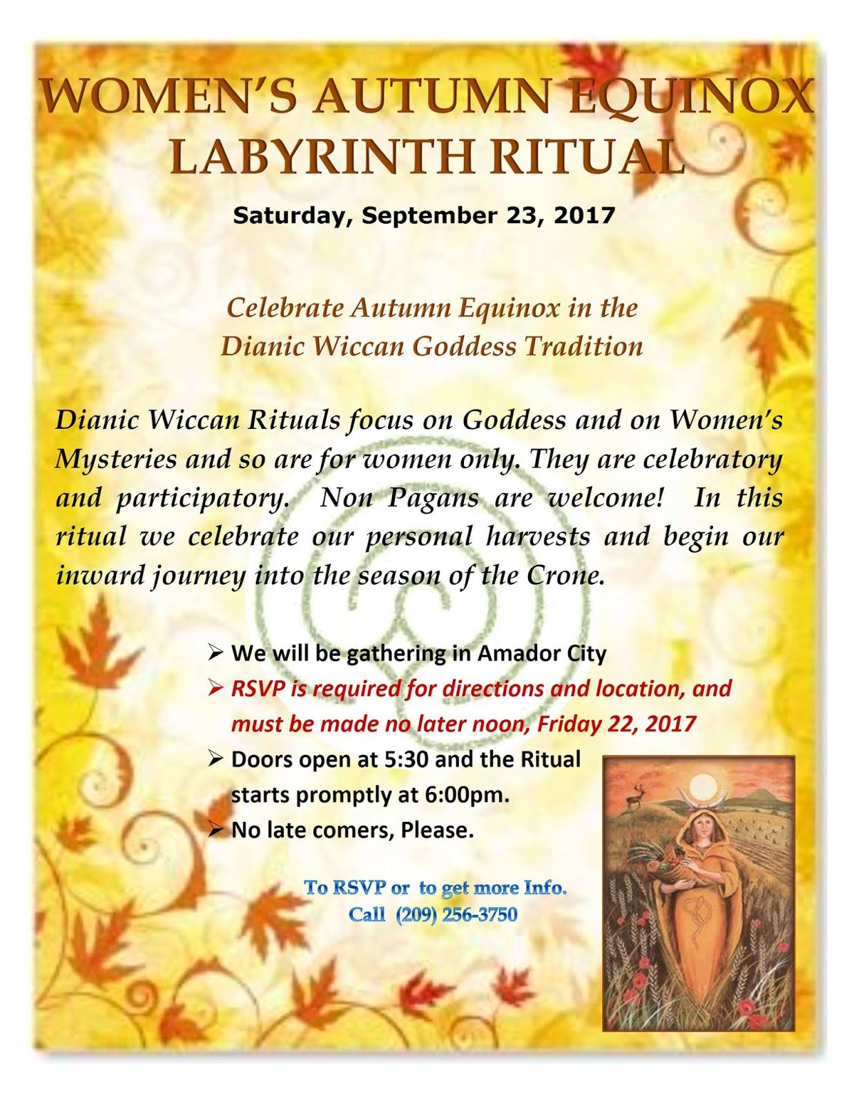 Women's Autumn Equinox Labyrinth Ritual - Sept 23
