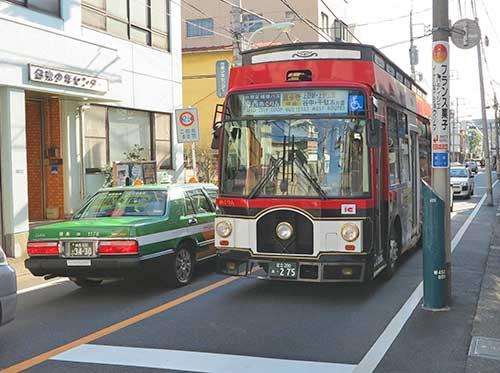 Tozai Megurin Bus Yanaka, Tokyo.