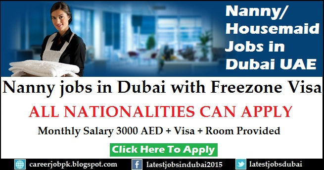 Nanny jobs in Dubai