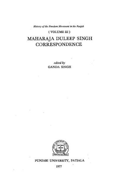 Maharaja Duleep Singh Correspondence