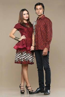 model baju batik couple pasangan trendy