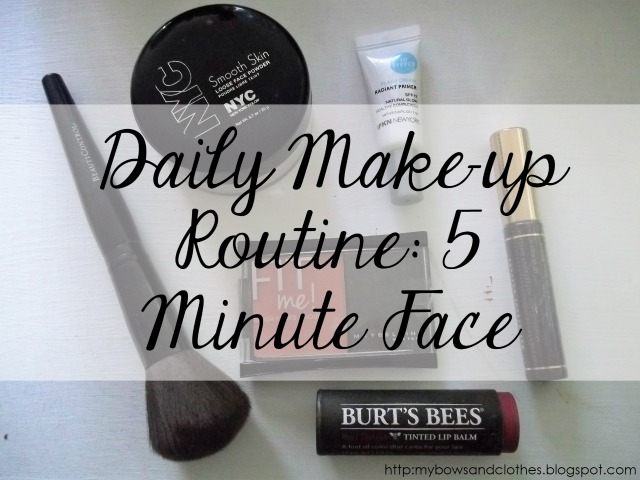 daily makeup routine five 5 minuet face