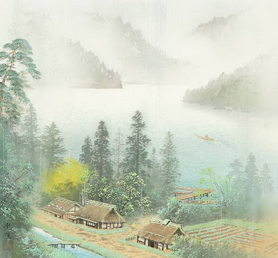 acuarelas-de-paisajes-campesinos-japoneses