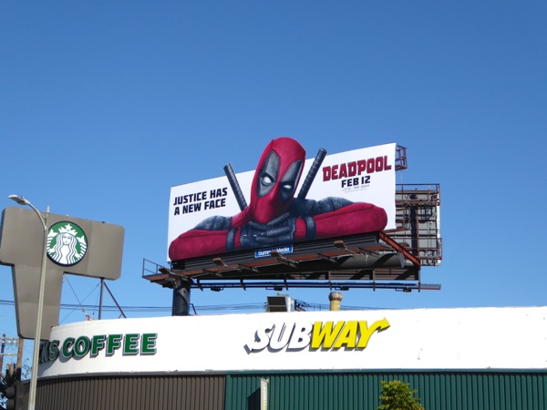Deadpool film billboard