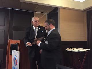 Dan Gentile - Franklin Rotary President; outgoing President Scott Martin