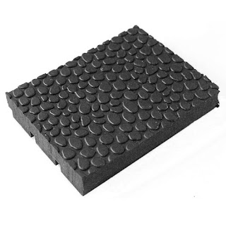 Greatmats 4x6 foot x 1/2 inch Straight Edge Pebble Top Rubber Gym Mats