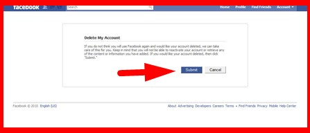 direct link to delete my facebook account permanently