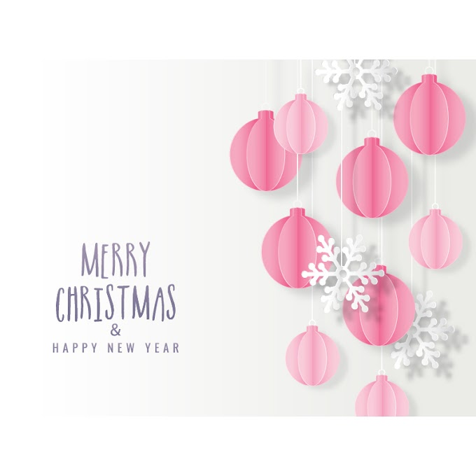 Origami Christmas greeting card free vector