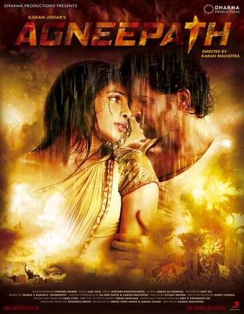Poster Of Agneepath 2012 Hindi 550MB BRRip 720p ESubs HEVC Watch Online Free Download Worldfree4u