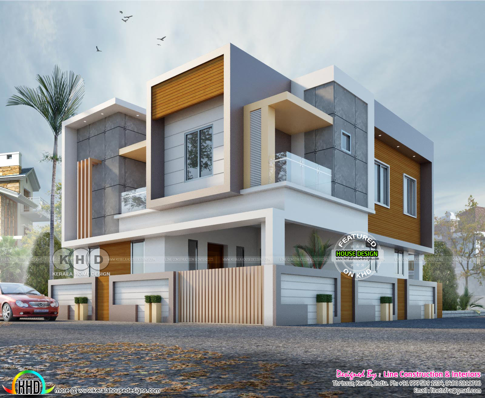 Box type 4 BHK contemporary house plan - Kerala home ...