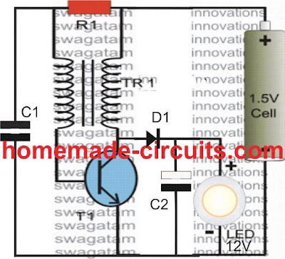 Simple Boost Converter using a single BJT
