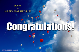 congratulations for marriage Love balloons sky