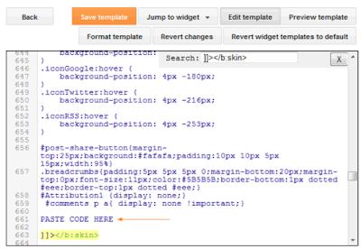 Blogger, Редактиране на HTML кода