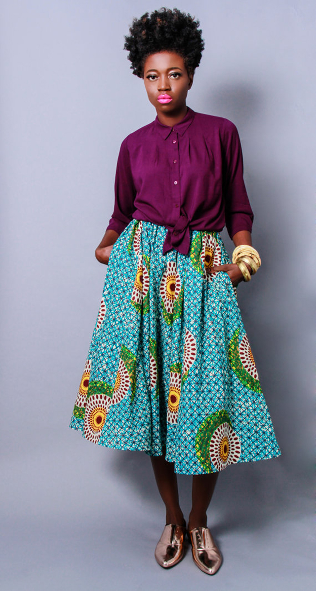 Demesticks  NY African print  style skirt ciaafrique ,african print dresses ,african fashion, african dress styles,kitenge designs , african styles, african style dresses , african style, african dresses. See more on ciaafrique.com