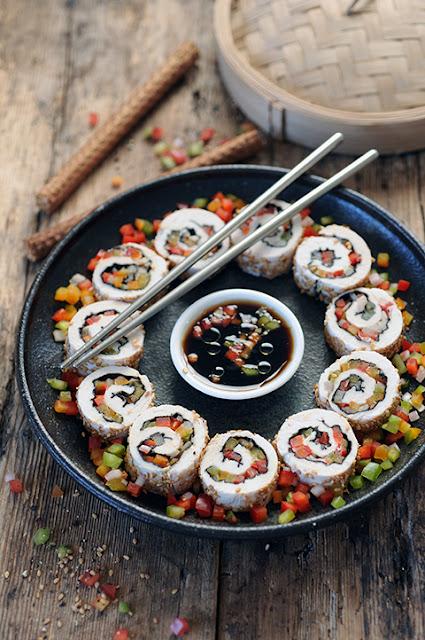 Et si on se roulait la volaille pour en faire comme des makis? Ferrandi, la Samsung Culinary Class et makis de volaille multicolores au menu!
