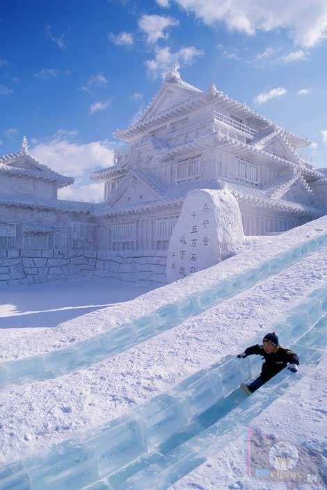 Just Stunning Chineese Snow Castle