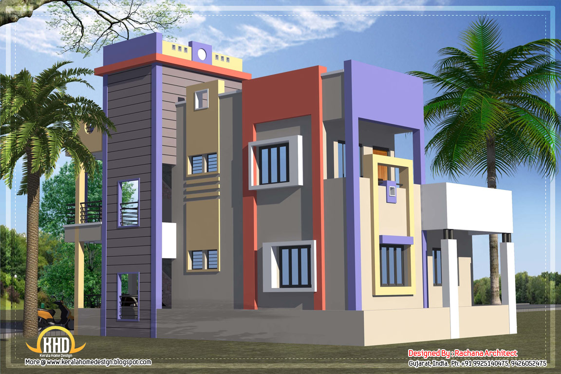 1582 sq ft india house plan kerala home design and for Arch design indian home plans