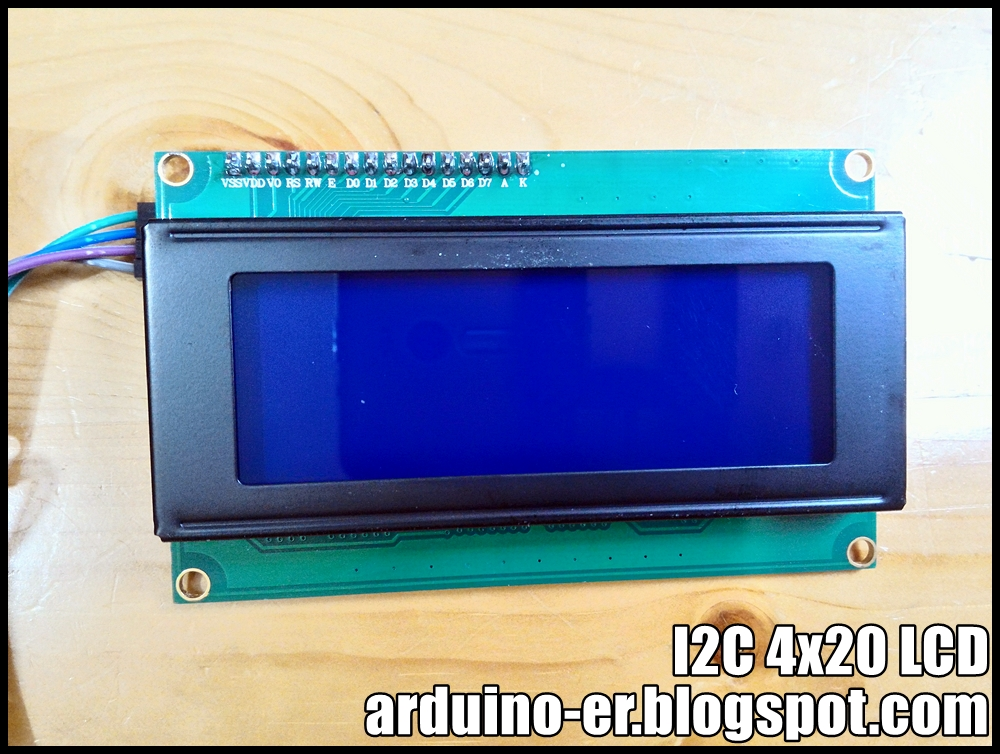 Arduino-er: I2C 4x20 LCD, test on Arduino Uno using