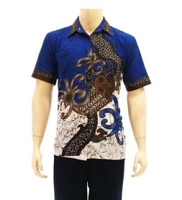 Ide baju batik pekalongan modern untuk pria