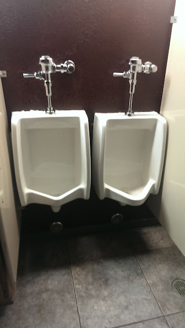 """Another Guy And I Both Walked In The Bathroom At The Same Time. After Seeing This, He Said """"This Isn't Going To Happen"""" And He Walked Out"""
