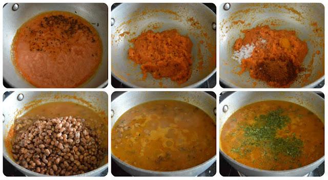Easy Red Chori Masala/Adzuki Bean Gravy/Karamani Masala