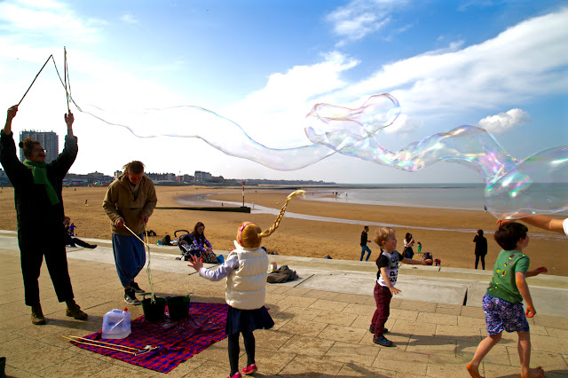 Margate beach bubbles