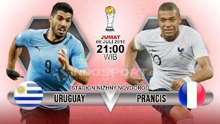 Susunan Pemain Uruguay vs Prancis