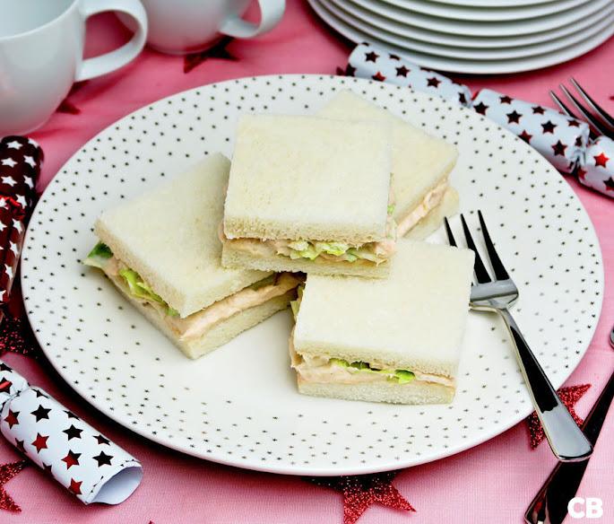 Elegante zalmsandwiches voor je kerst-high tea