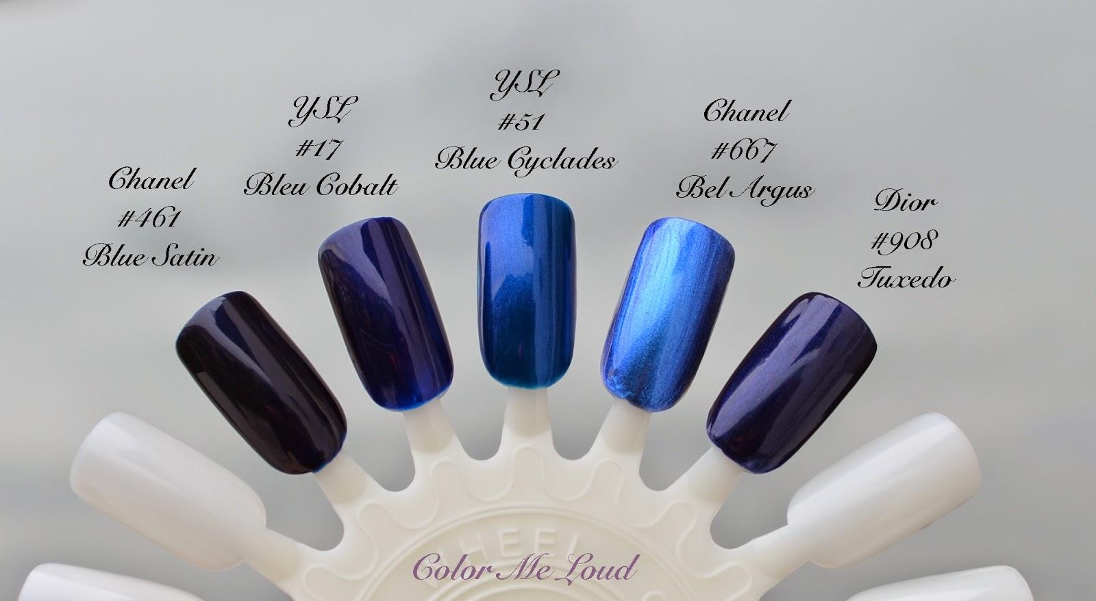Yves Saint Laurent La Laque Couture 50 Bleu Celadon 51 Bleu Cyclades For Bleus Lumiere Summer