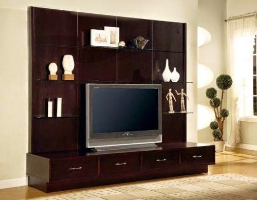 modern wooden entertainment center design - Entertainment Center Design Ideas