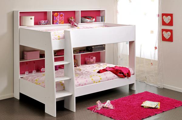10 Model Tempat Tidur Minimalis Untuk Anak Perempuan Bertema Pink ! - Modern Bertingkat