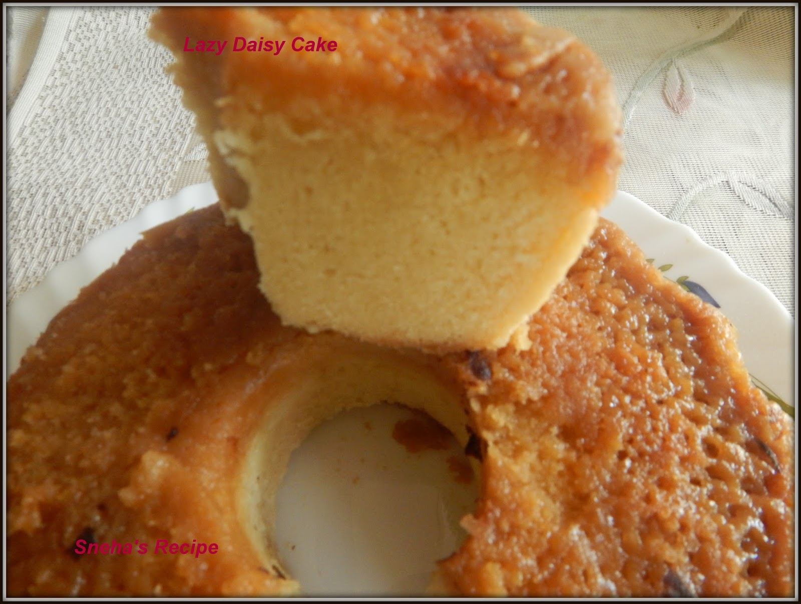 Lazy Daisy Bundt Cake Bundtbakers Sneha S Recipe