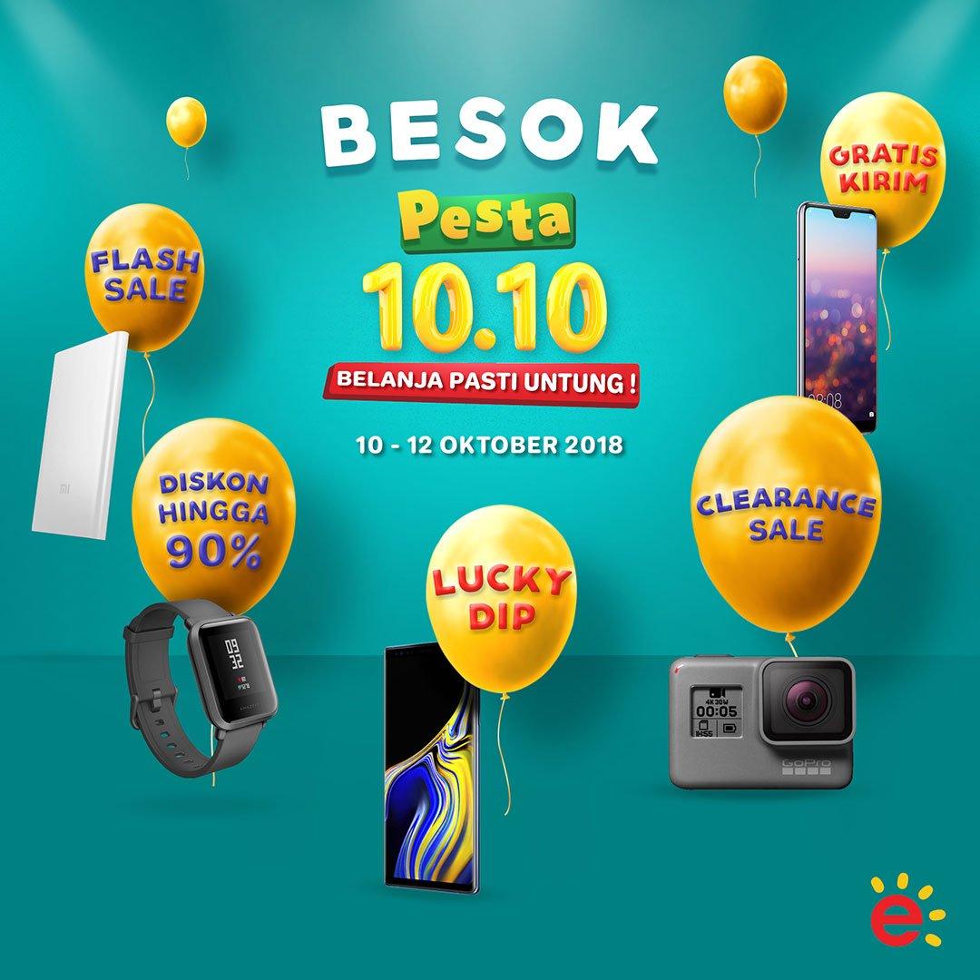 Erafone - Promo Pesta 10.10 Belanja Pasti Untung (s.d 12 Okt 2018)