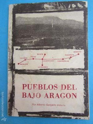 ALCAÑIZ, PUEBLOS DEL BAJO ARAGON, papel,  ALBERTO GARGALLO VIDIELLA