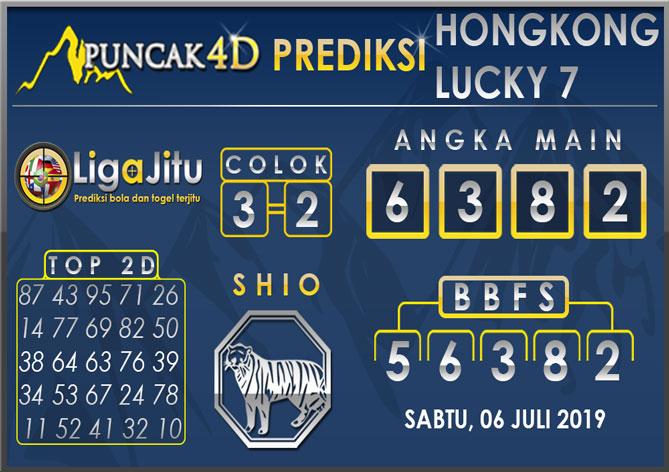 PREDIKSI TOGEL HONGKONG LUCKY7 PUNCAK4D 06 JULI 2019