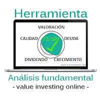 Análisis fundamental online de acciones de bolsa